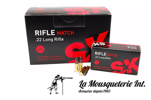 500 Cartouches SK rifle Match 22lr