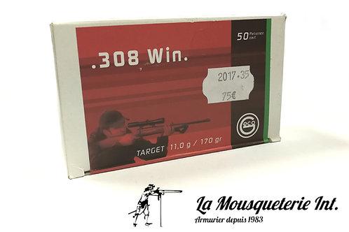 Geco 308 win Target 170 grs FMJ