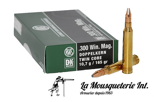 20 Cartouches RWS Doppelkern 300 win mag 165grs