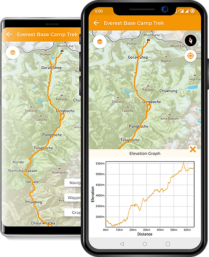 5. Route Preview & Elevation Graph Scree