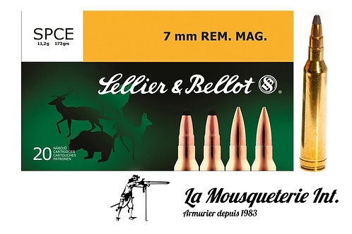 20 cartouches 7mm Rem Mag Sellier & bellot 173grs SPCE
