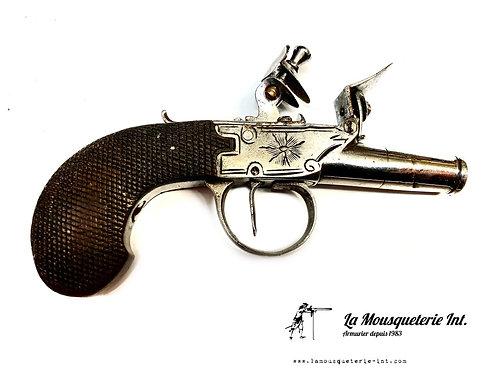 Pistolet de Voyage à Silex Anglais
