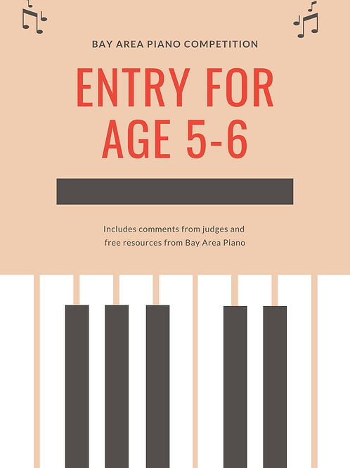 Entry fee ages 5-6