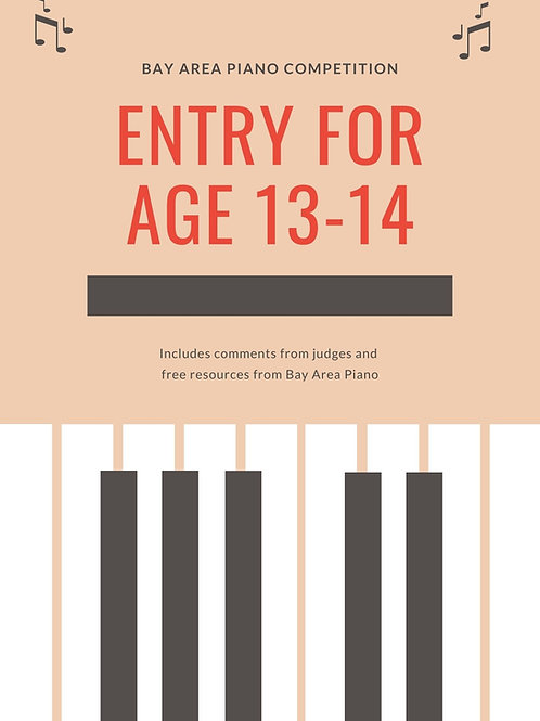 Entry for Age 13-14