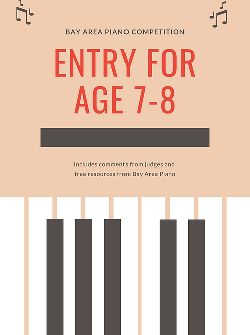 Entry fee ages 7-8