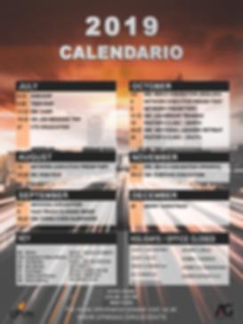 2019 Calander Back Page (Updated 1-17-19