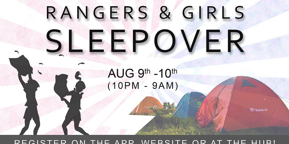 RANGERS & GIRLS SLEEPOVER
