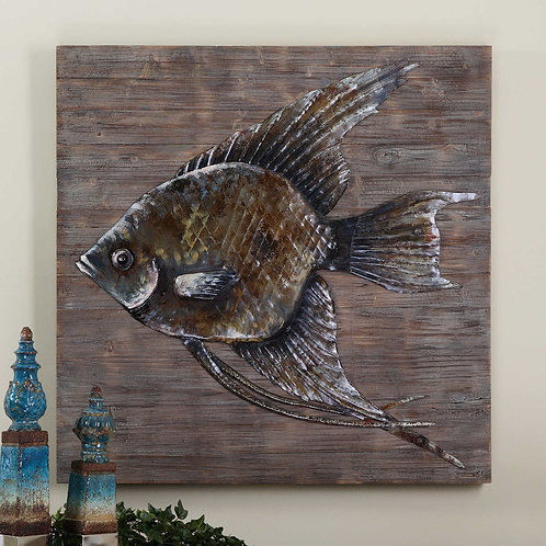 Uttermost Iron Wall Fish #04273