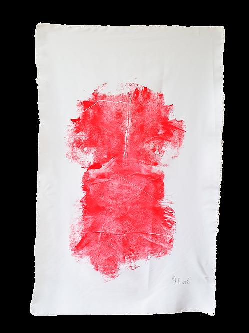 """Ana Roland (Brasil). """"Tejido Venoso, Tejido Arterial""""  48cm X 78cm  263 USD"""