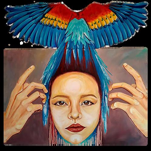 "Katherine Martínez (Colombia). ""Salterio soy"". Pintura.                 430 USD"