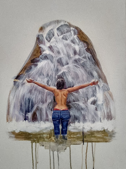 "Katherine Martínez (Colombia). ""La paz almada"". Pintura.                 262 USD"