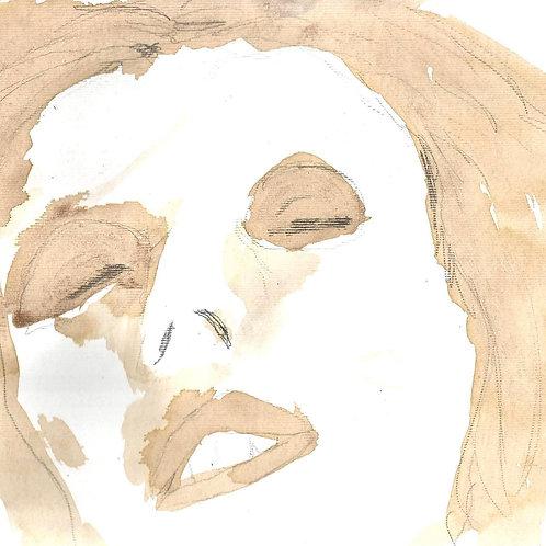 """Yamile Manrique (Colombia). """"Bowie"""".  Lapiz  y tinta de café   21x25cm  172 USD"""