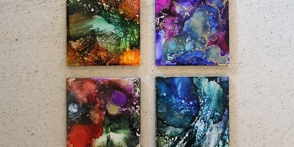 Alcohol Ink Coasters with Valerie Zadow (Class 2)