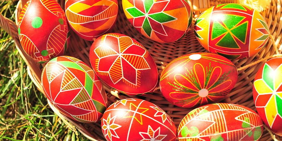 Ukrainian Egg Workshop EASTER EDITION with Phyllis Zapandinsky (1 Workshop)