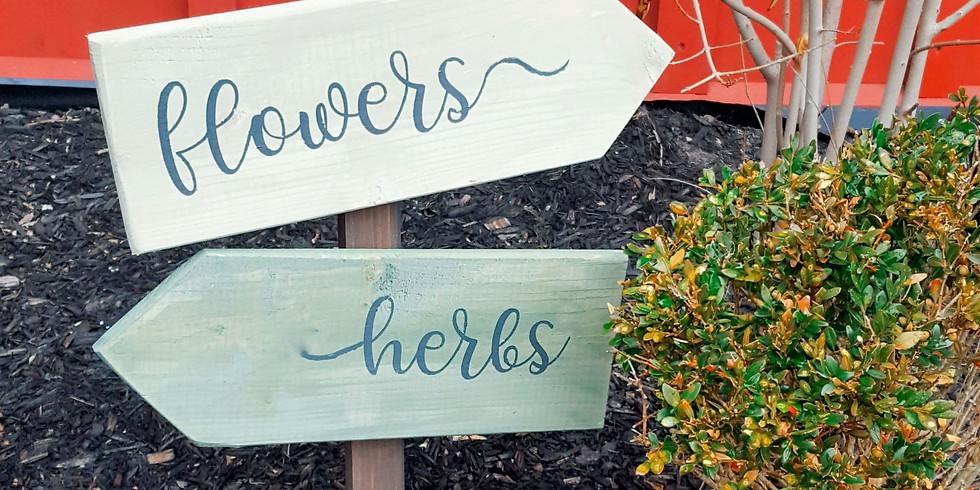 Garden Signs Workshop with Heather Benton
