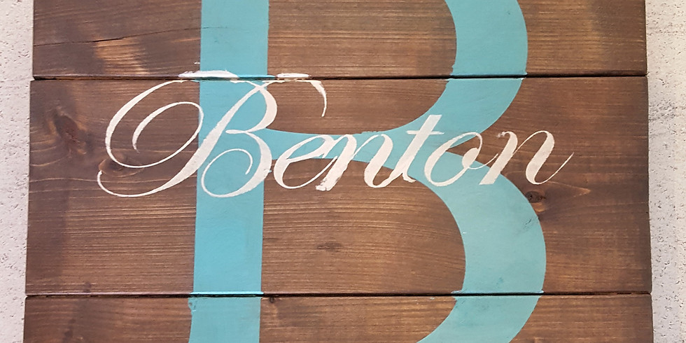 Personalized Rustic Sign Workshop with Heather Benton