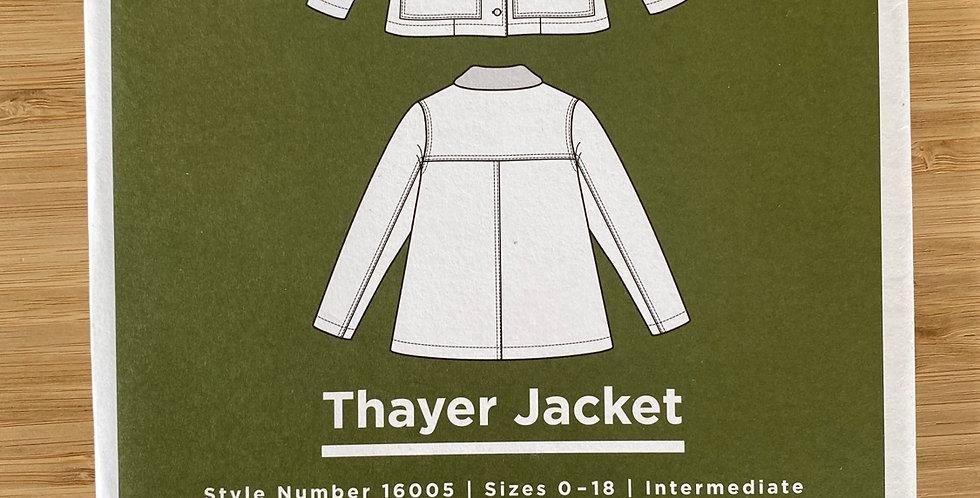 grainline studio thayer jacket printed pattern
