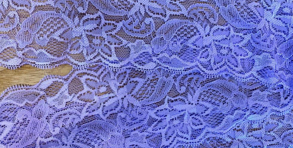 mauve 7.5cm stretch lace