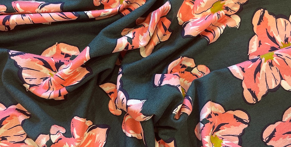lady mcelroy flower faces viscose knit
