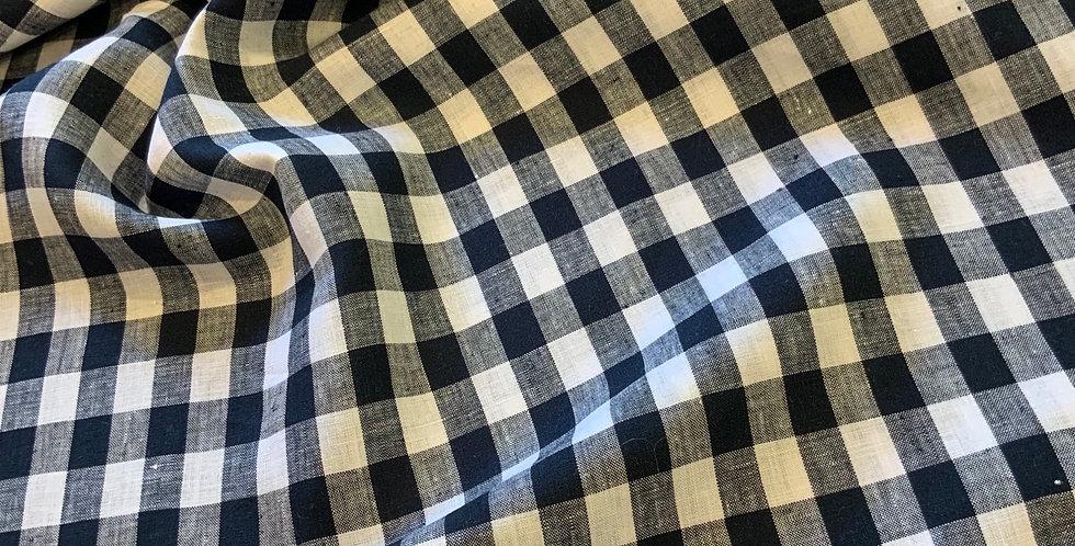 Colette Navy Gingham Linen