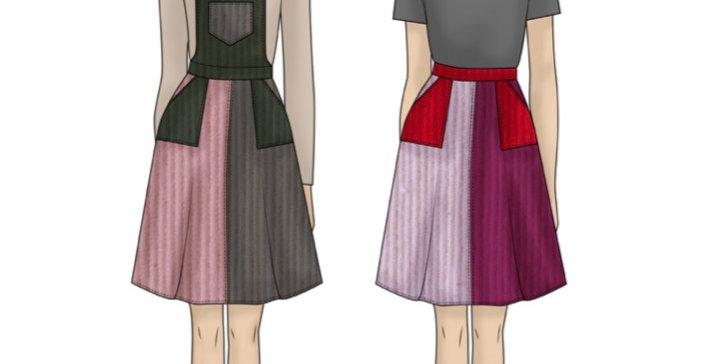 vandenberg fashion blair skirt and overalls printed pattern