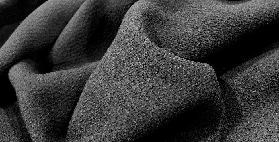 black mechanical stretch crepe