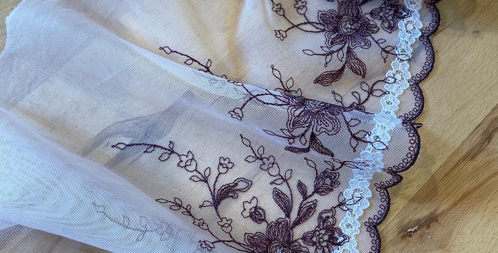 Clara embroidered trim
