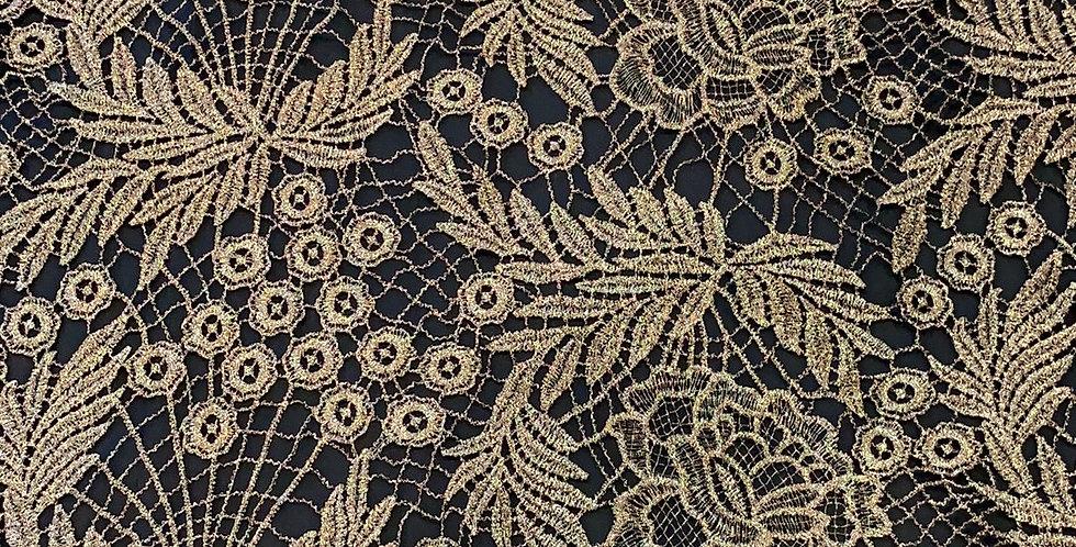 Bronze Guipure Metallic Lace