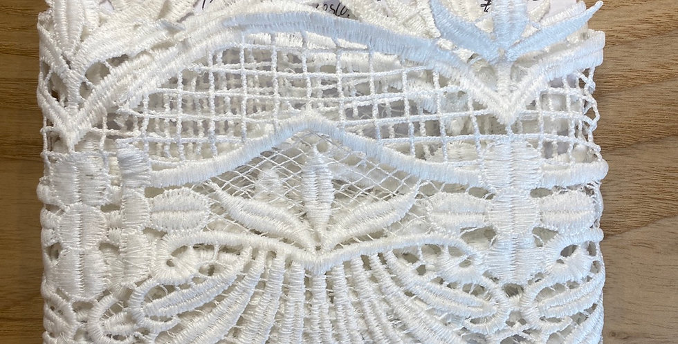 designer polyester guipure lace remnant