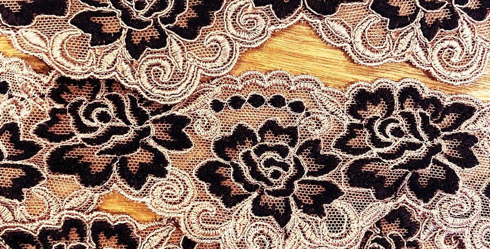 mocha two tone lace