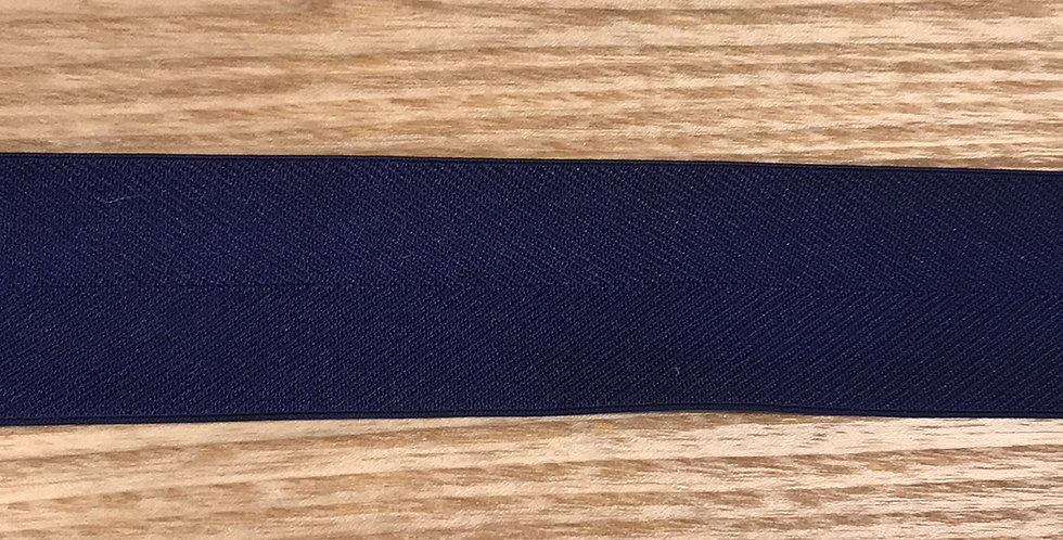 Navy herringbone elastic