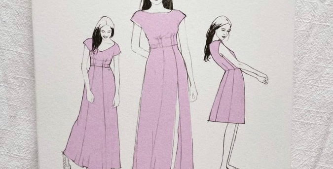 By hand London Anna dress printed pattern