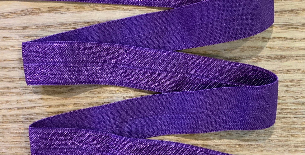 Purple 20mm Foldover Elastic
