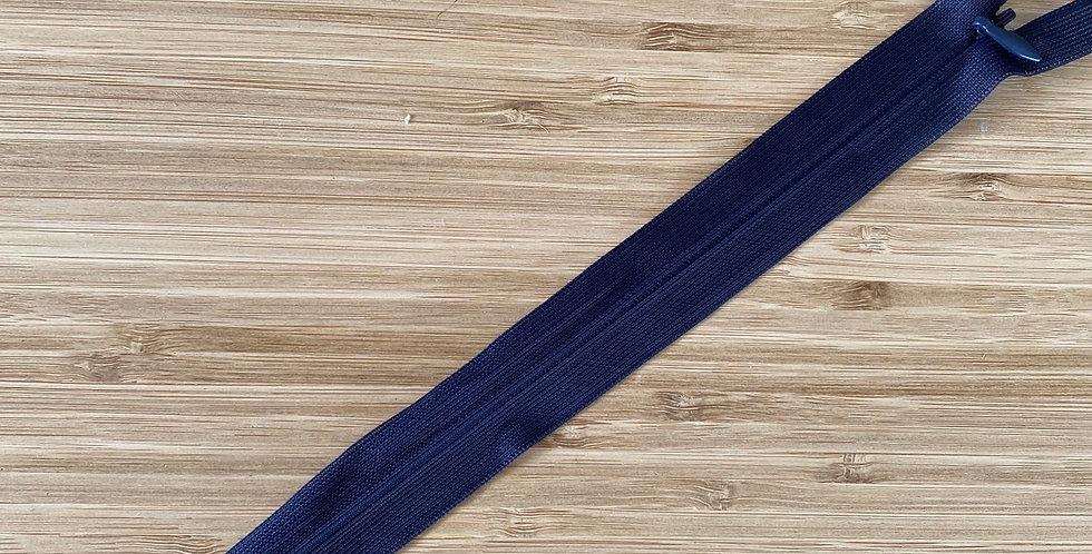 25cm navy invisible zip