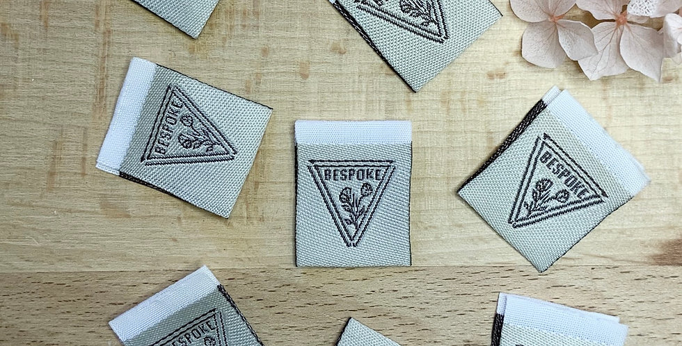 Set of 8 BESPOKE Embroidered Cloth Labels