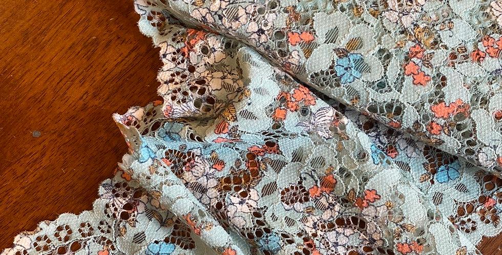 teal dream stretch lace