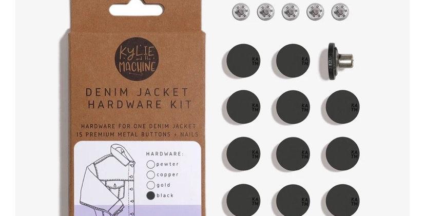 KATM denim jacket hardware kit MATTE BLACK