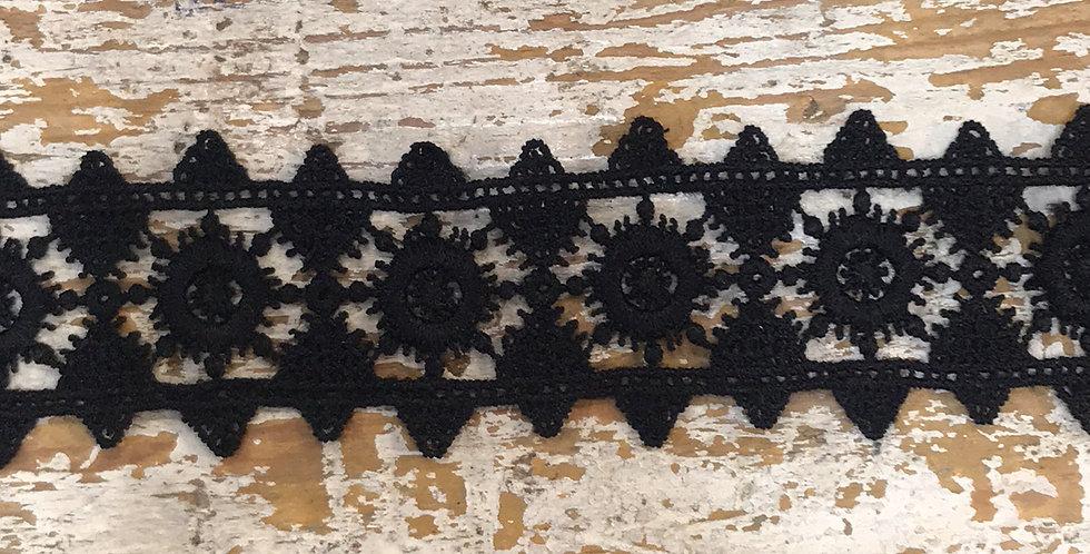 Sunburst lace black