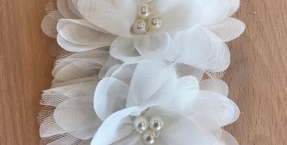 Pearl double flower motif