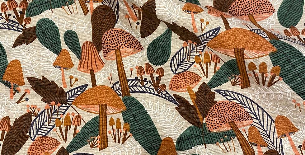 Art gallery fabrics Plant Peeps Forest Flourish Organic Cotton &Linen...