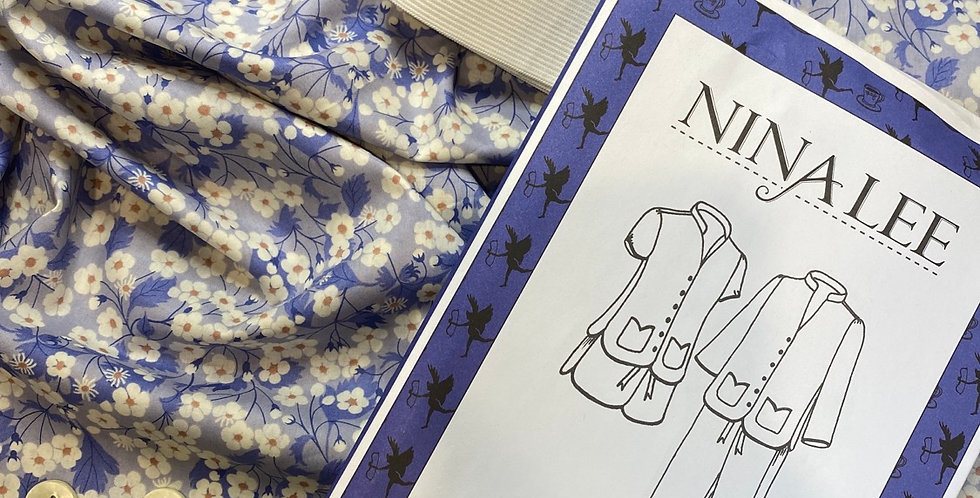 Liberty organic tana lawn Nina Lee piccadilly pyjamas kit