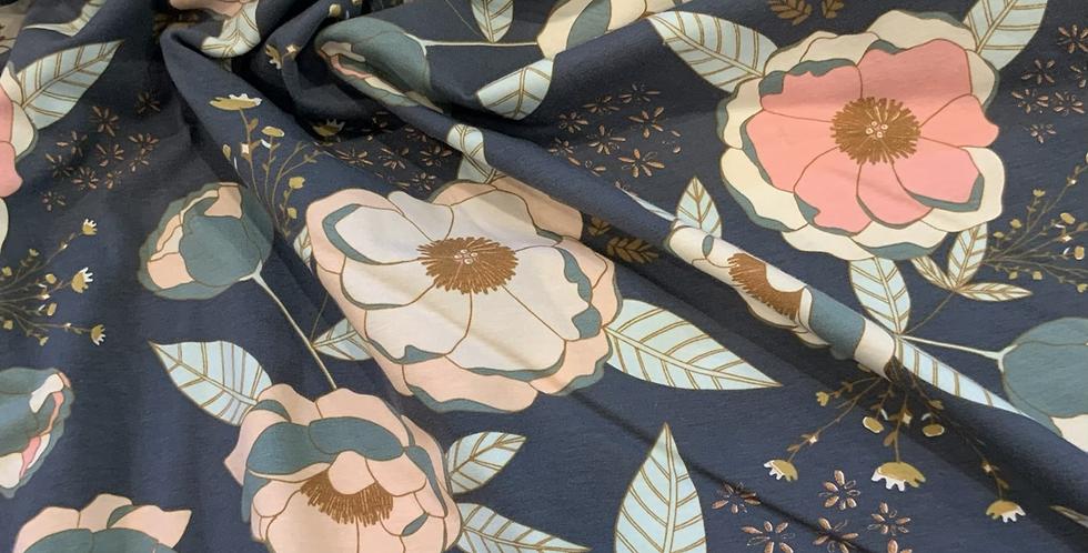 Art Gallery Fabrics SPRINKLED PEONIES SPARKLER Knit…