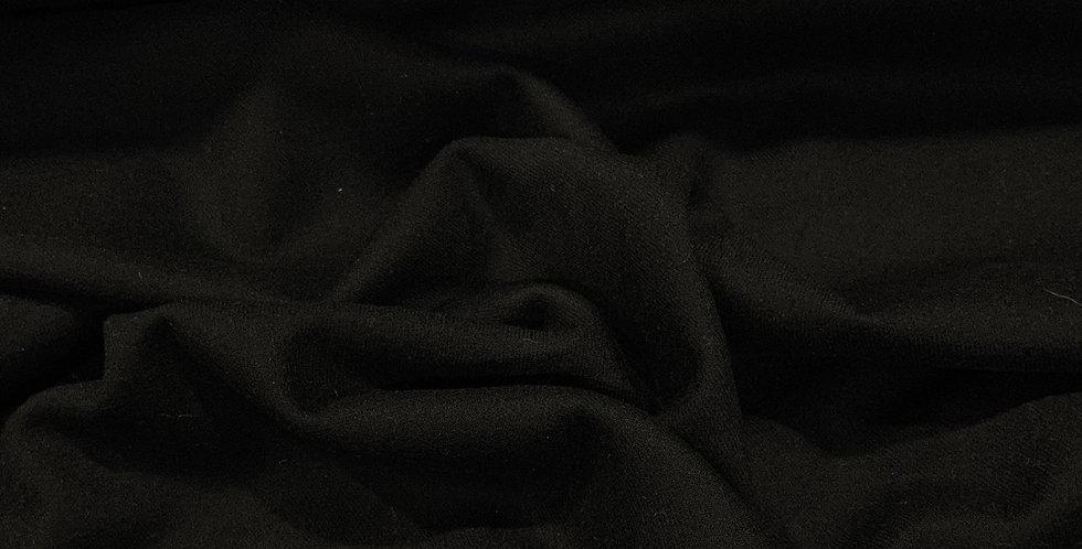 Black  Stretch Wool Fine  Twill Flannel...