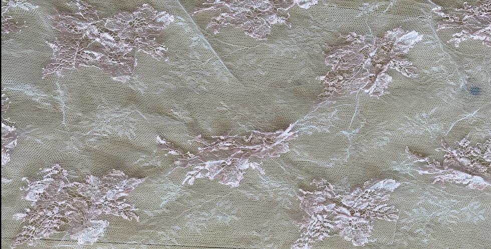 Dusty pink silk lace piece 13
