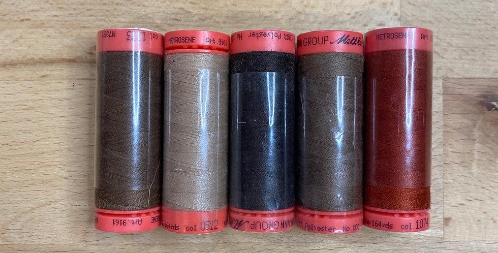 Metrosene Mixed Browns Thread Pack #8