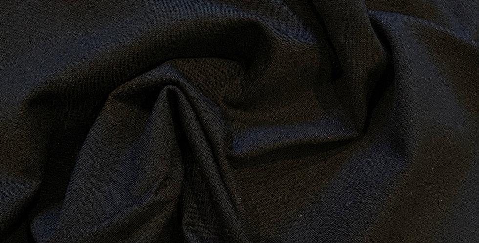 Black Heavy Ponte Knit Remnant