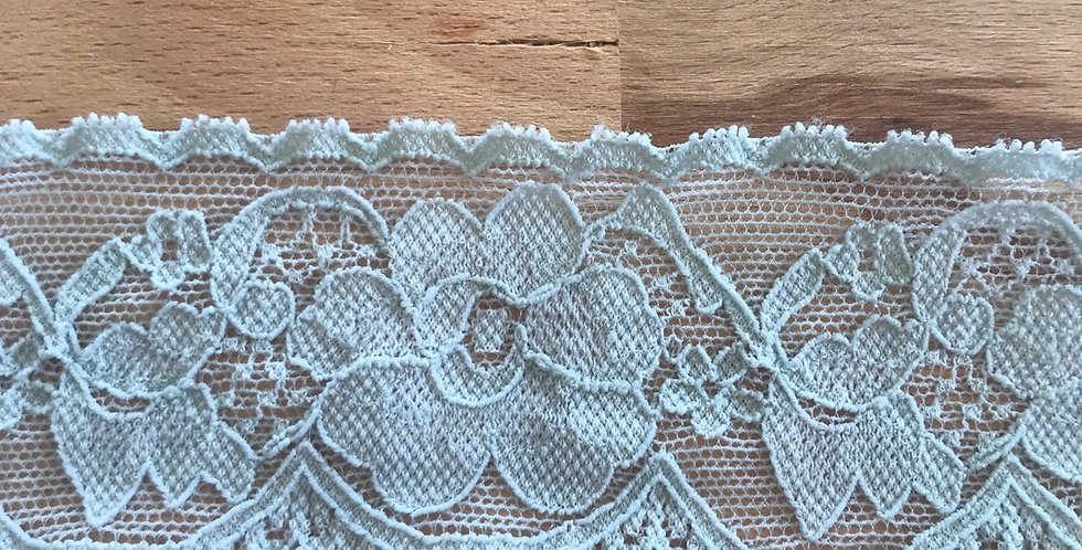 Pale Duck Egg Hand Dyed Stretch Lace....