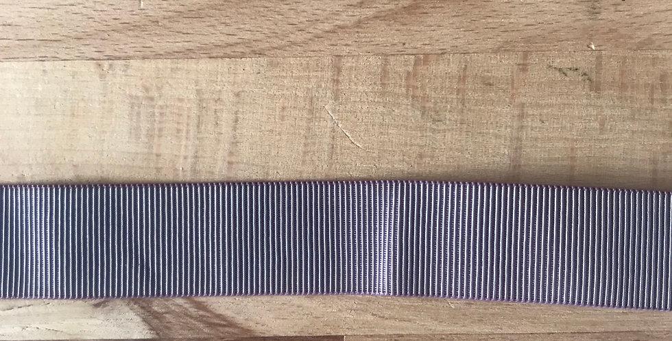 Dusty mauve self stripe elastic