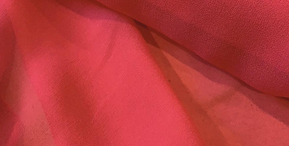Watermelon Silk Chiffon