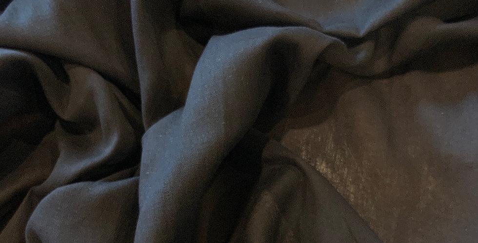 Charcoal Black Cotton Muslin...